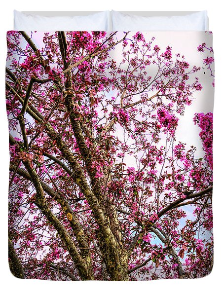 Spring Trees Pink Delight Duvet Cover