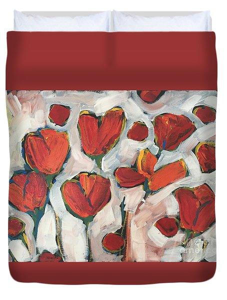 Spring Tulip Garden Duvet Cover