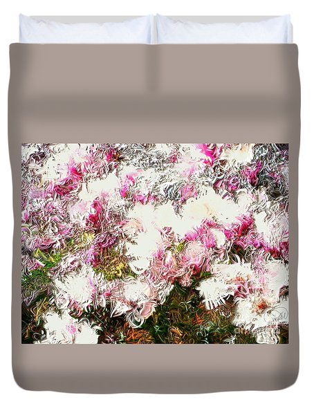 Spring Tulip Tree Duvet Cover