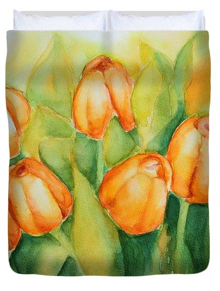 Spring Tulips 1 Duvet Cover