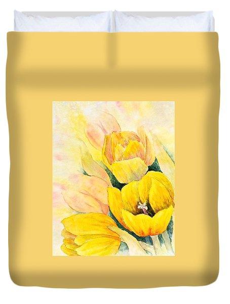 Spring Tulips Duvet Cover by Carolyn Rosenberger