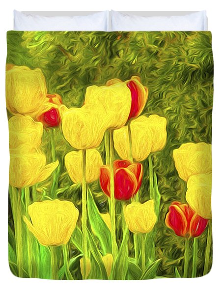 Spring Tulips Photoart Duvet Cover