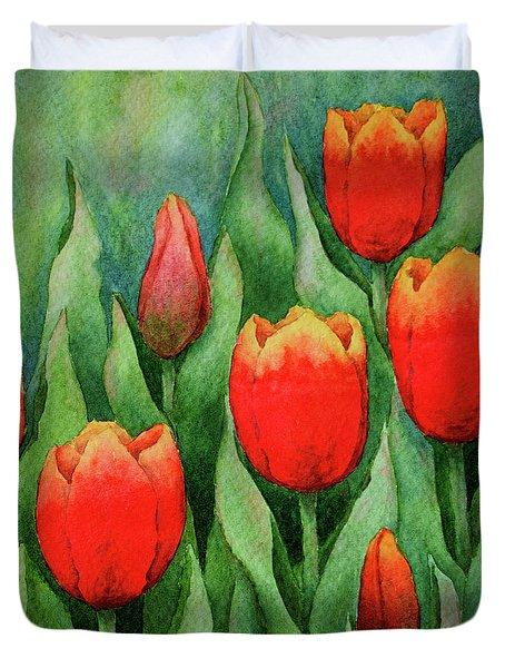 Spring Tulips Duvet Cover