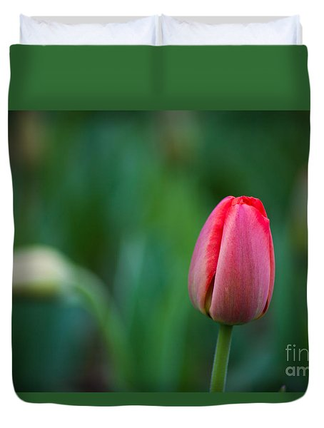 Spring Tulips Red Duvet Cover