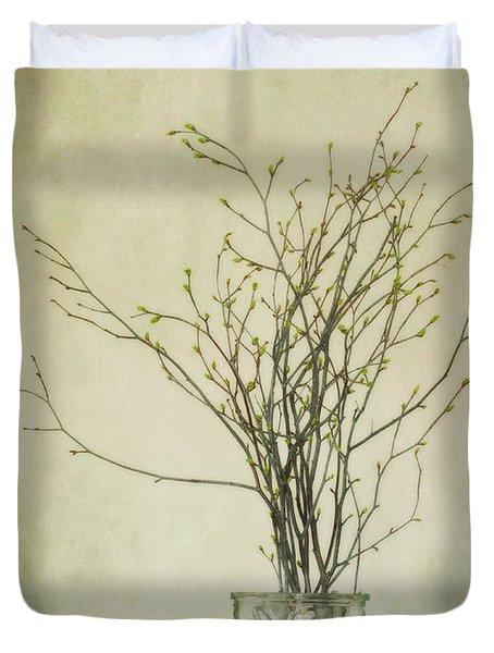 Spring Unfolds Duvet Cover by Priska Wettstein