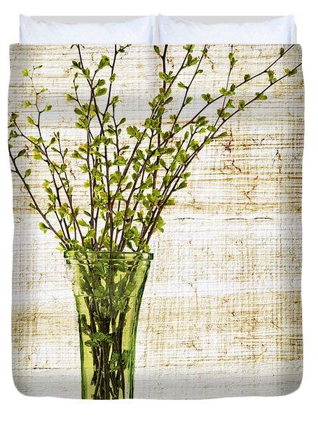 Spring Vase Duvet Cover by Elena Elisseeva