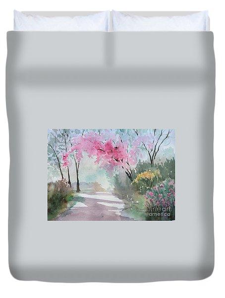 Spring Walk Duvet Cover by Yohana Knobloch
