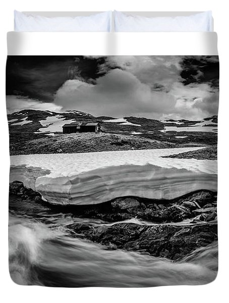 Duvet Cover featuring the photograph Spring Waters by Dmytro Korol