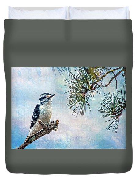 Spring Woodpecker Duvet Cover