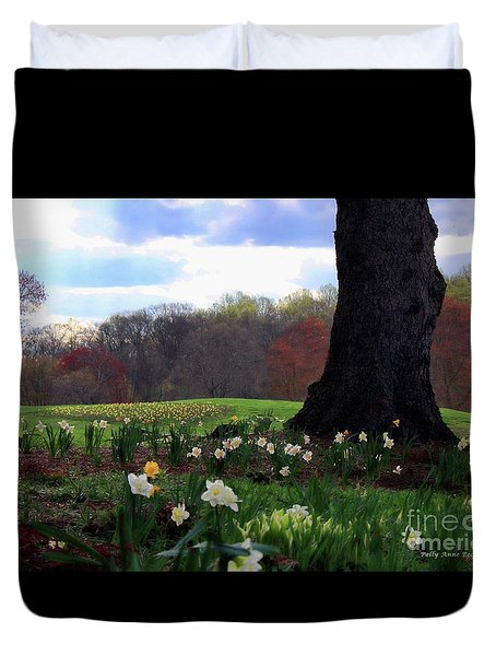 Springing Forward At Edgemont Golf Course Duvet Cover by Polly Peacock