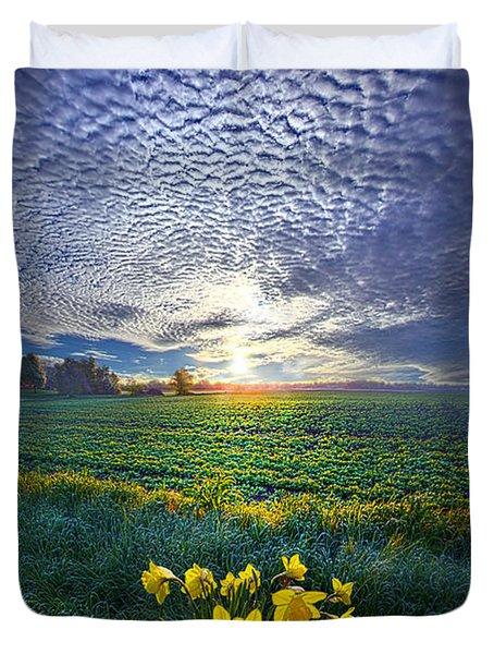 Springing To Life Duvet Cover