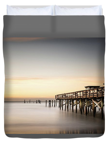 Springmaid Pier Mathew Aftermath Duvet Cover by Ivo Kerssemakers