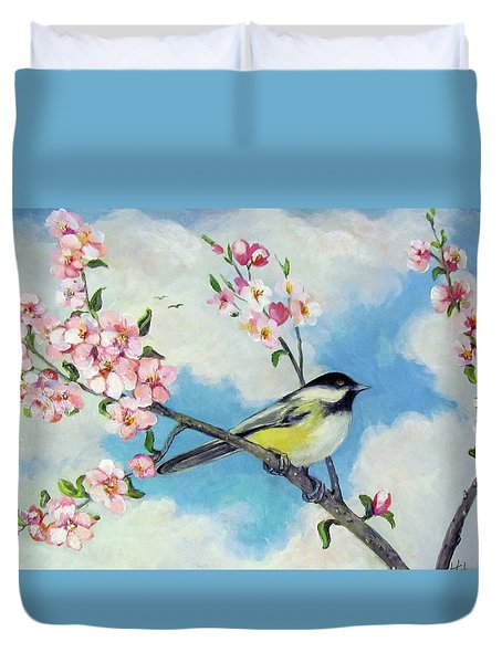 Duvet Cover featuring the painting Spring's Promise by Donna Tucker