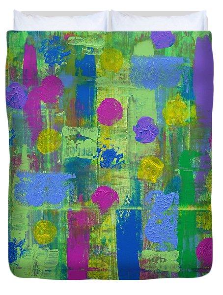 Springtime Abstract Duvet Cover