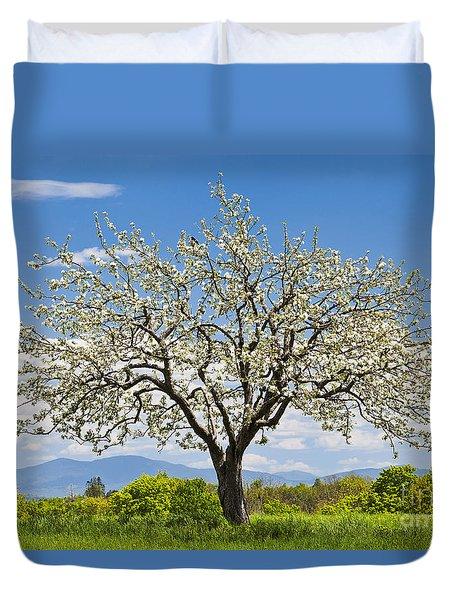 Springtime Apple Tree Duvet Cover