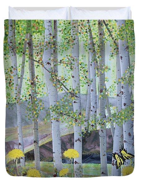 Springtime Aspens Duvet Cover