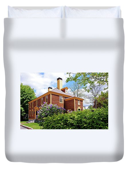 Duvet Cover featuring the photograph Springtime At Folsom Tavern by Wayne Marshall Chase