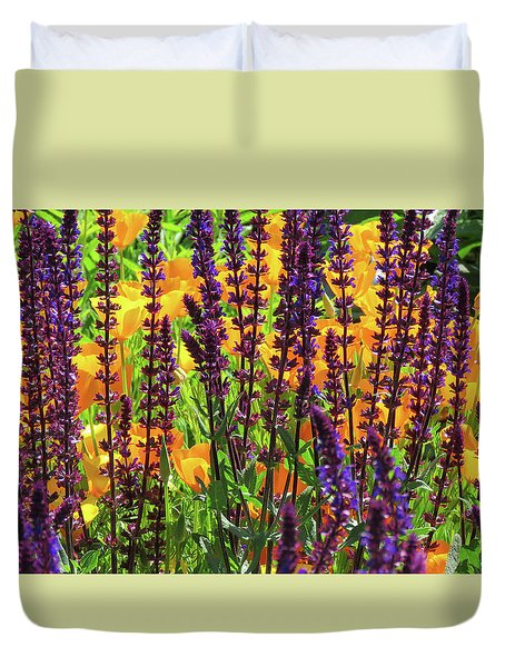 Duvet Cover featuring the photograph Floral Peek-a-boo At North Mountain Park by Brooks Garten Hauschild