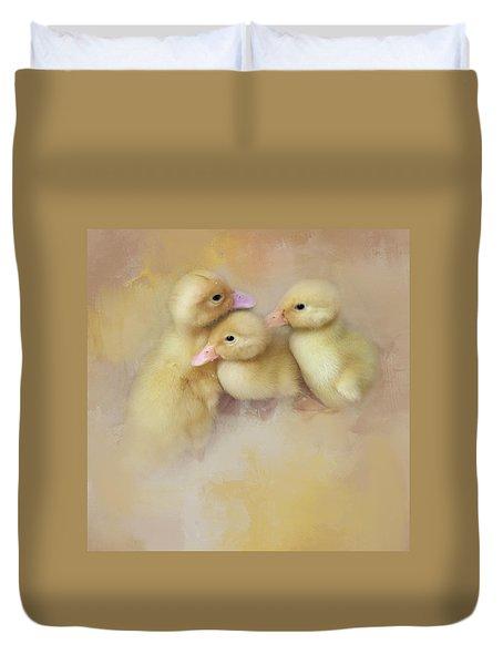 Springtime Babies Duvet Cover
