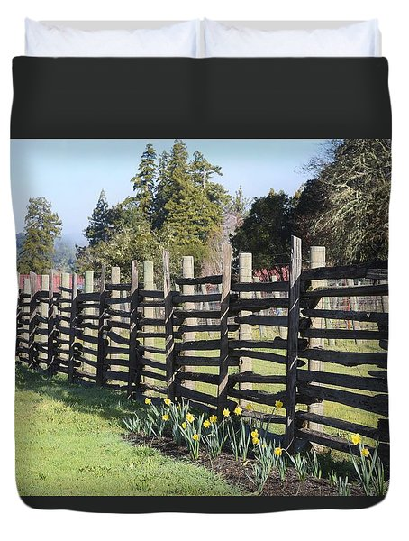 Springtime In Anderson Valley Duvet Cover