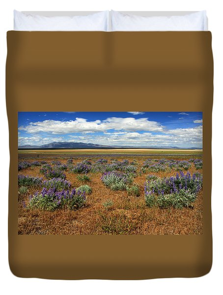 Springtime In Honey Lake Valley Duvet Cover by James Eddy