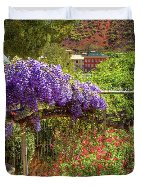 Springtime In Old Bisbee Arizona Duvet Cover