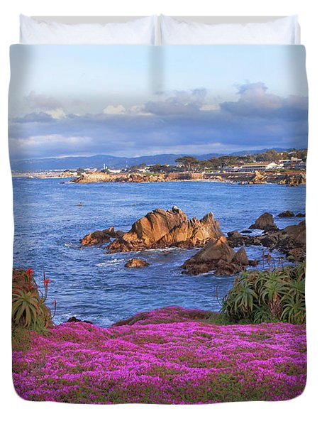 Springtime In Pacific Grove Duvet Cover
