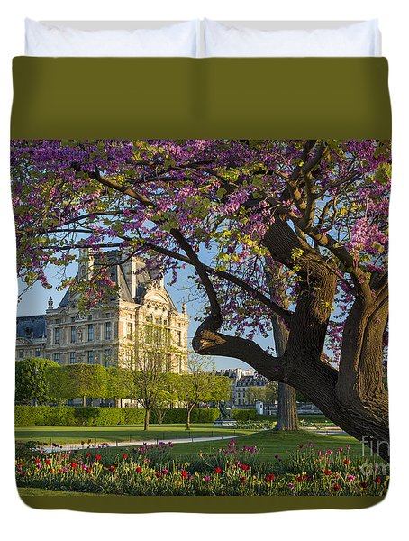 Duvet Cover featuring the photograph Springtime In Paris by Brian Jannsen