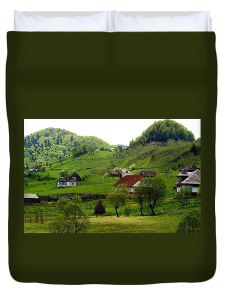 Duvet Cover featuring the photograph Springtime In Sirnea by Emanuel Tanjala