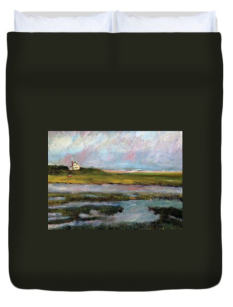 Springtime In The Marsh Duvet Cover