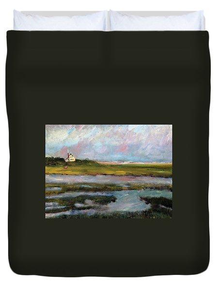 Springtime In The Marsh Duvet Cover by Michael Helfen