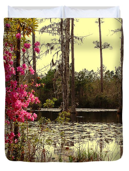Springtime In The Swamp Duvet Cover by Susanne Van Hulst