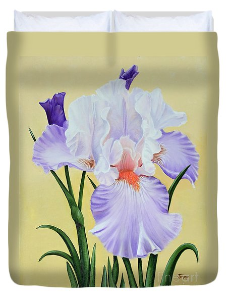 Springtime Iris Duvet Cover by Jimmie Bartlett