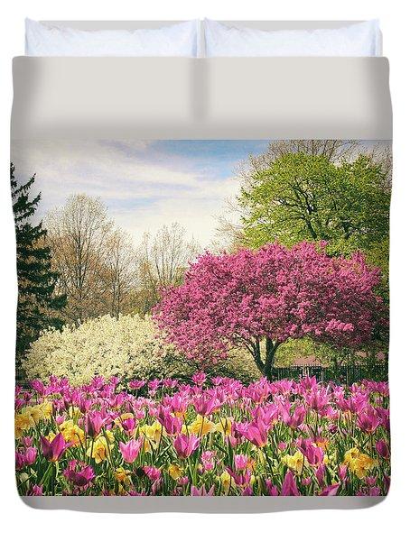Springtime Tulips Duvet Cover by Jessica Jenney