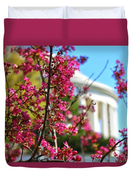 Duvet Cover featuring the photograph Springtime Vibe by Mitch Cat