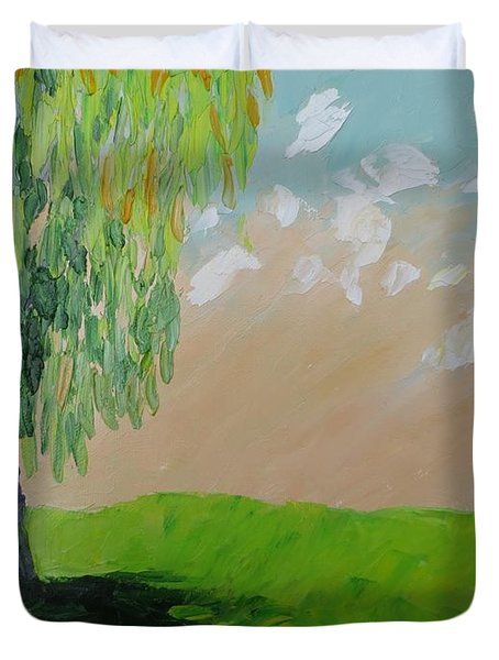 Springtime Willow Duvet Cover