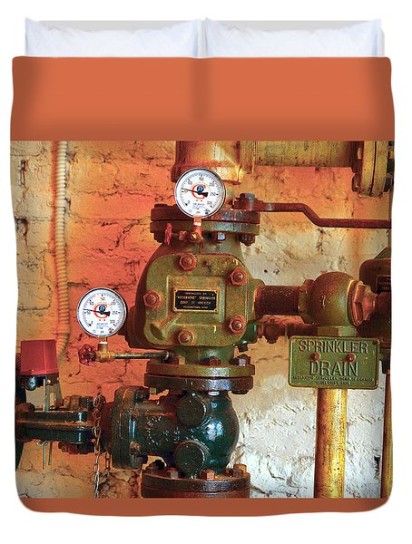 A Spinkle In Time Sprinkler Guages Duvet Cover