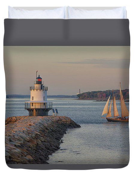 Sprint Point Ledge Sails Duvet Cover