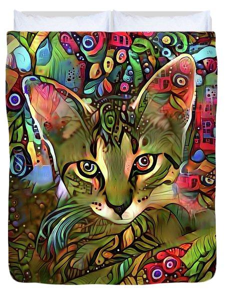Sprocket The Tabby Kitten Duvet Cover
