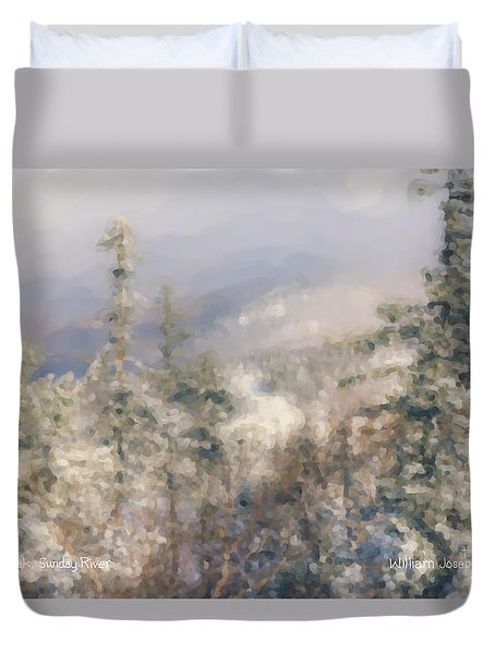 Spruce Peak Summit At Sunday River Duvet Cover