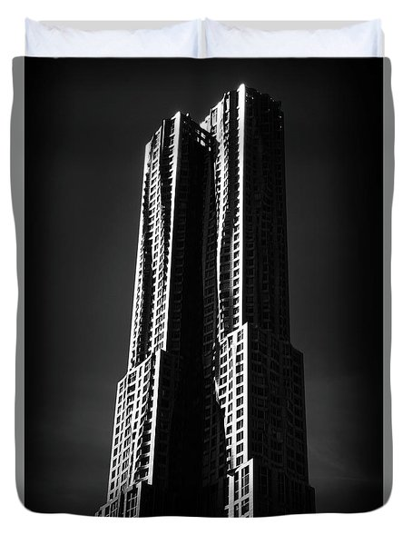 Duvet Cover featuring the photograph Spruce Street By Gehry by Jessica Jenney