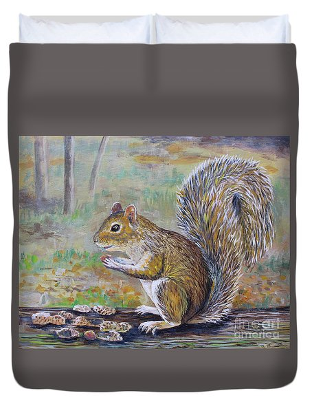 Spunky Squirrel Duvet Cover