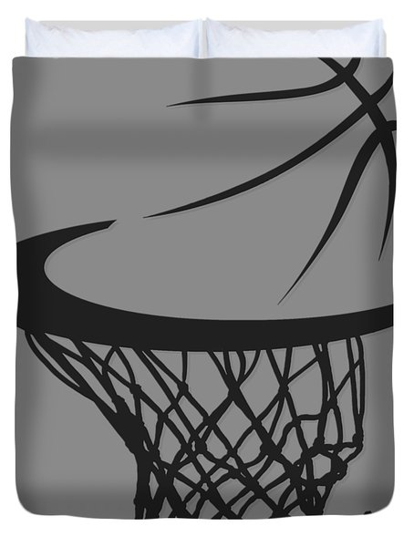 Spurs Basketball Hoop Duvet Cover