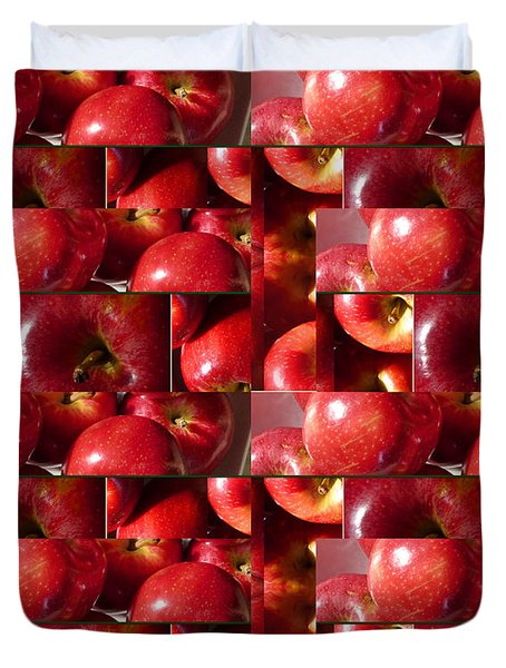 Square Apples Duvet Cover