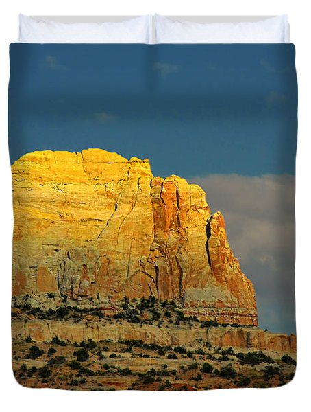 Square Butte - Navajo Nation Near Kaibeto Az Duvet Cover by Christine Till