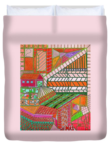 Square Dance 2 Duvet Cover