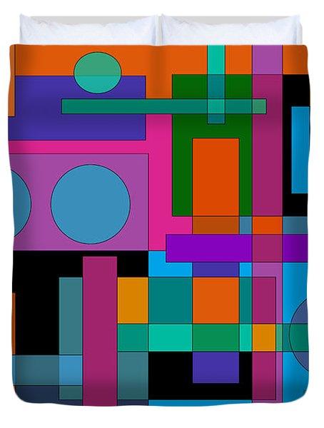 Square Pegs Duvet Cover