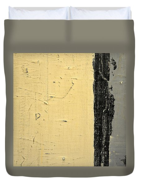Duvet Cover featuring the painting Square Study Project 11 by Michelle Calkins