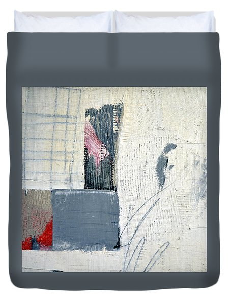 Duvet Cover featuring the painting Square Study Project 12 by Michelle Calkins
