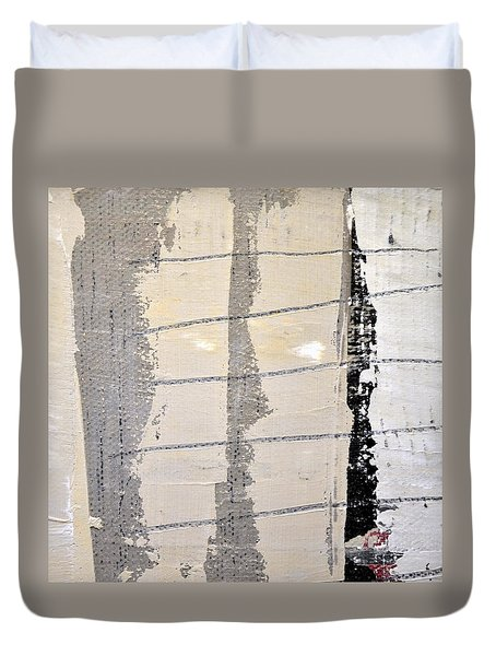 Duvet Cover featuring the painting Square Study Project 2 by Michelle Calkins